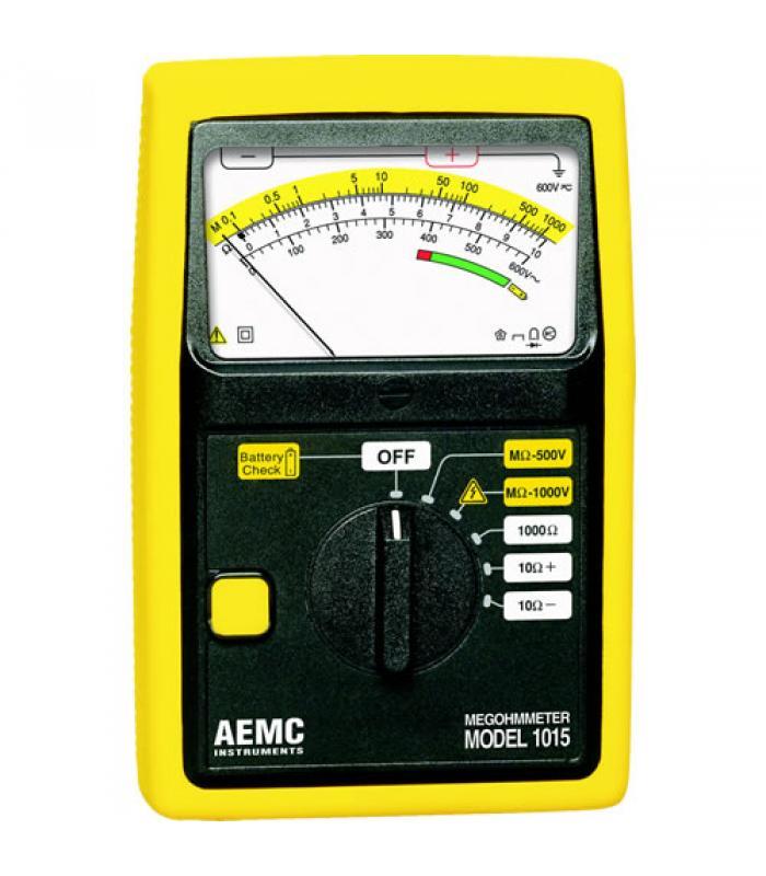 AEMC 1015 [1403.01] Analog Megohmmeter, 500V/1000V Test Voltage