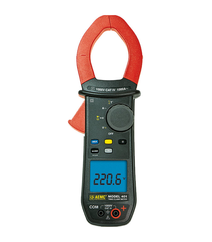 AEMC 401 [2139.20] 1000VAC/DC, 1000AAC, TRMS Clamp-on Meter Ohms, Continuity, Temperature