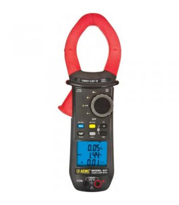 """AEMC 407 [2139.51] 1000V AC / DC, 1000A AC / 1500A DC Power Clamp-On Meter, 1.89"""" Jaw Size w/ Bluetooth Compability"""