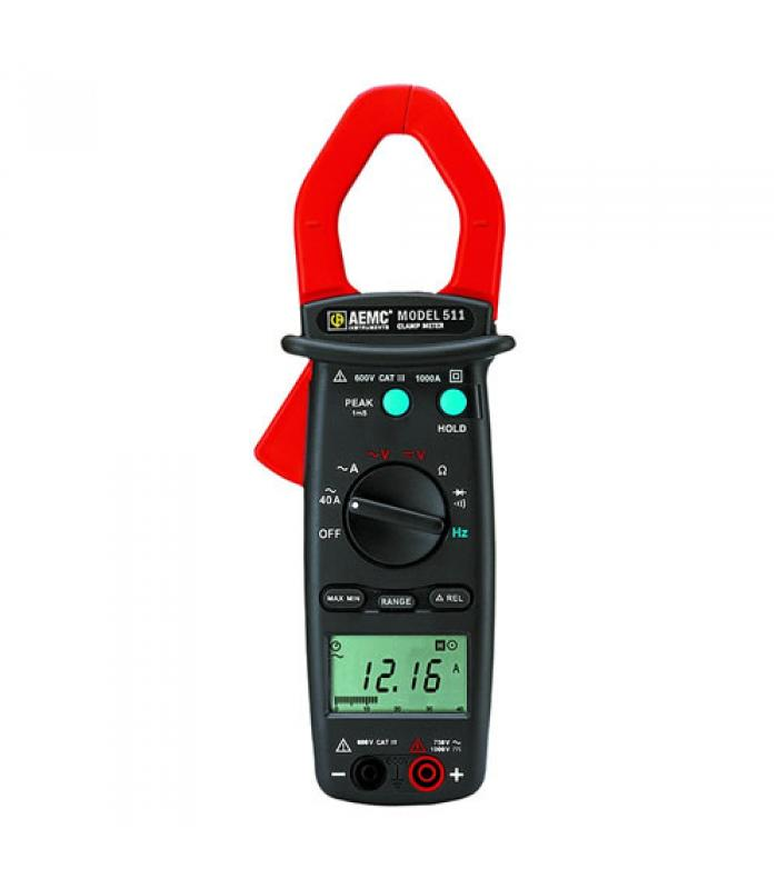AEMC 511 [2117.67] 1000A AC, 600V AC / DC Professional Clamp-On Meter
