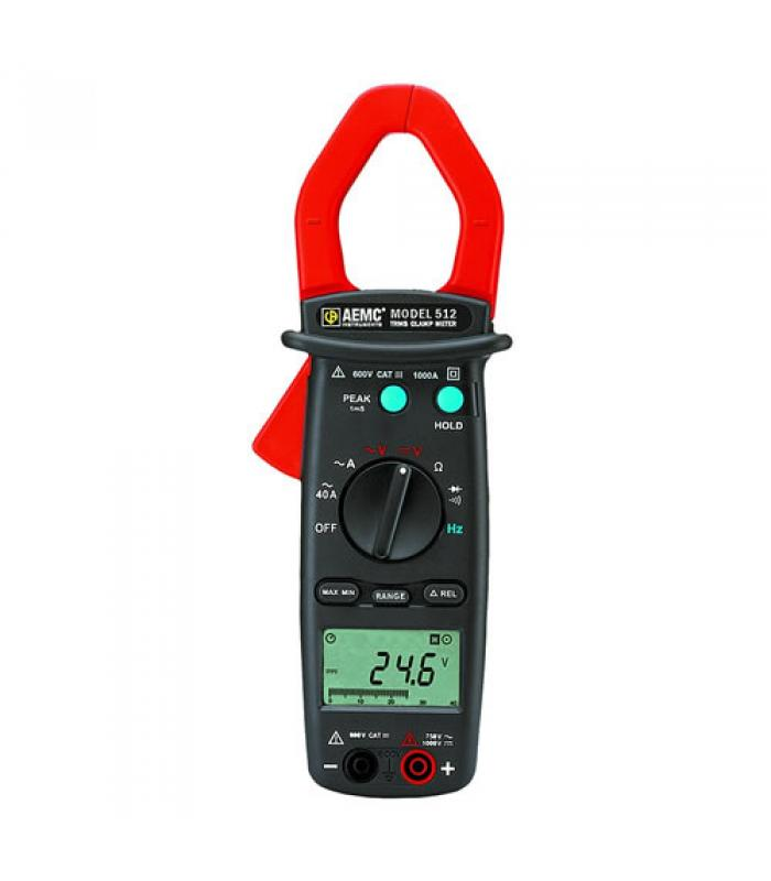 AEMC 512 [2117.68] 1000A AC, 750V AC / DC TRMS Professional Clamp-On Meter
