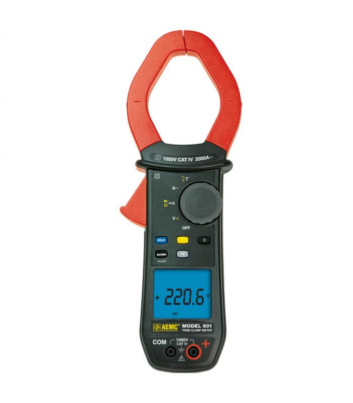AEMC 601 [2139.30] 1000VAC/DC, 2000AAC TRMS Clamp On Meter, Ohms, Continuity, Temperature