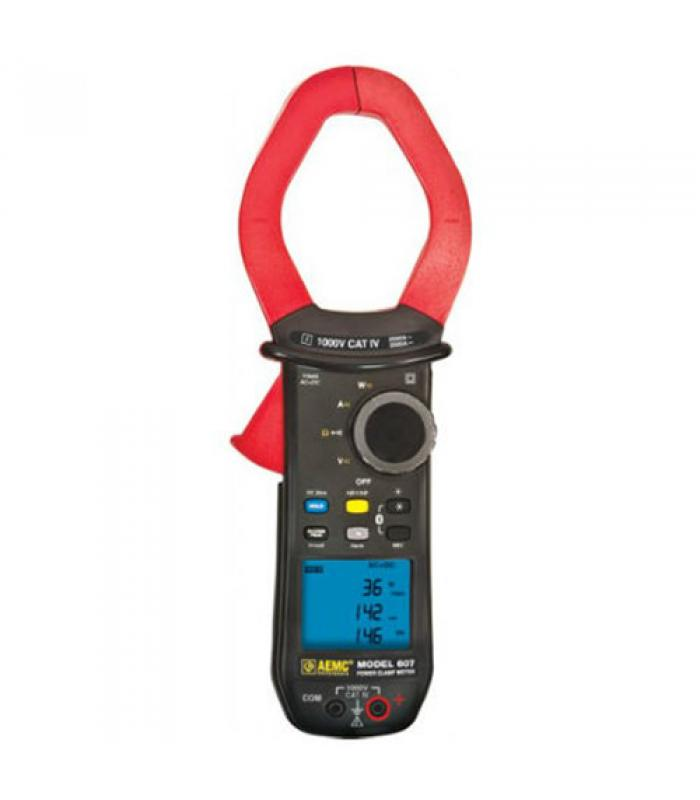 """AEMC 607 [2139.61] 1000V AC / DC, 2000A AC / 3000A DC Power Clamp-On Meter, 2.36"""" Jaw Size & Bluetooth Compatibility"""