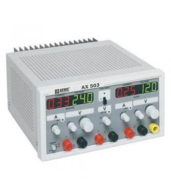 AEMC AX503 (2130.07) Power Supply (Triple Output, 0-25A, 0-30VDC, 27-55VDC)