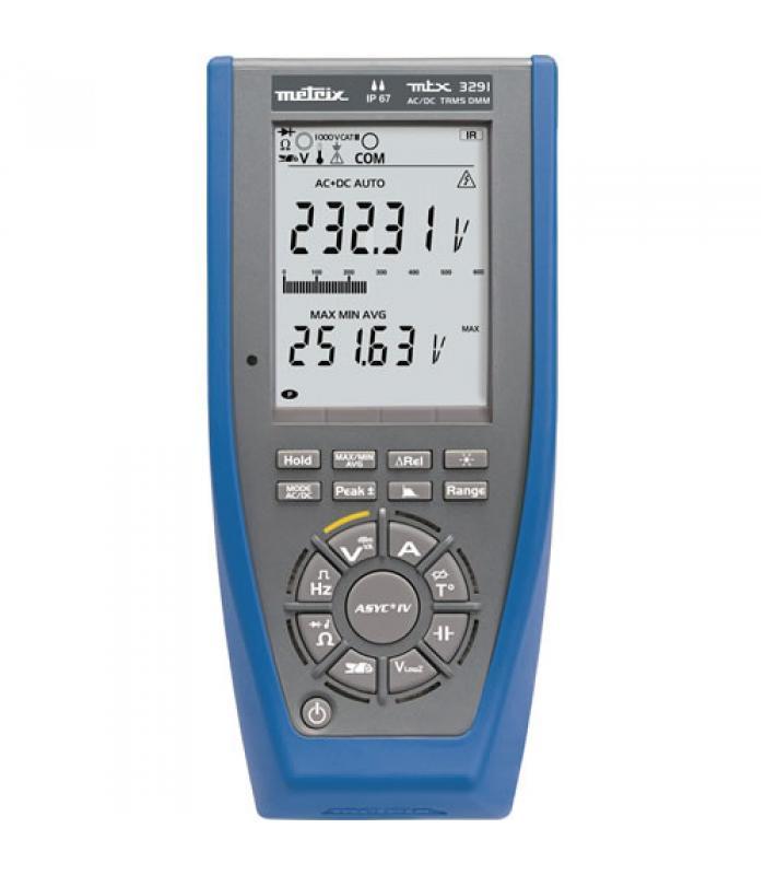 AEMC MTX 3291 [2154.02] Digital Multi Meter (ASYC IV, TRMS, 60,000-cts, USB, Backlit, Digital LCD)