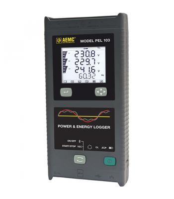 AEMC PEL 103 Basic [2137.62] Single/Three-Phase Power & Energy Logger  (with LCD, no sensors)
