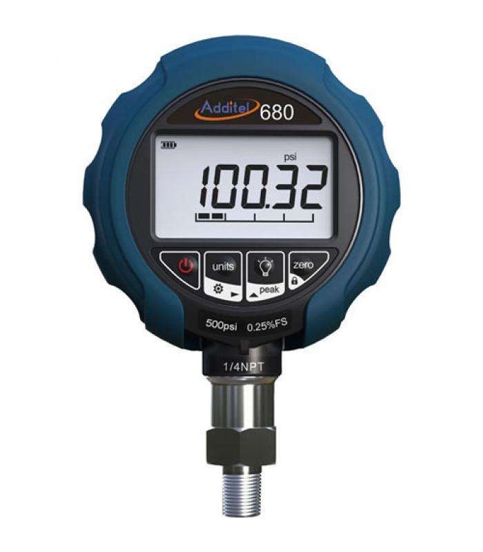 Additel ADT 680 [ADT680-25-GP30-PSI-N] Digital Pressure Gauge, 0.25% FS Accuracy, 1/4 NPT male, 0 to 30 psi