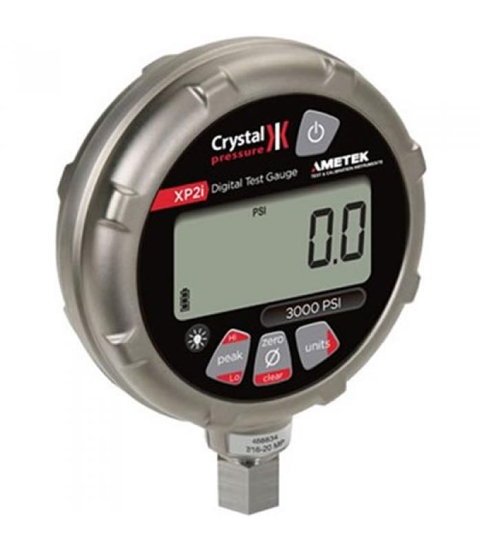 Ametek Crystal XP2i Series [1KPSIXP2I] Digital Pressure Gauge, Accuracy 0.1% , 1/4NPT Male, Gauge 1000 PSI