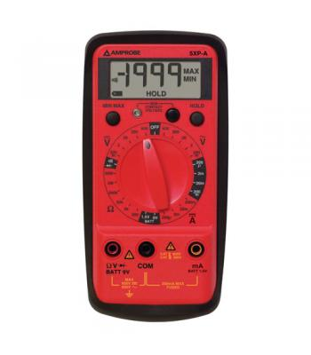 Amprobe 5XP-A Compact Digital Multimeter, 10 Functions/27 Ranges with Voltect NCV Detector