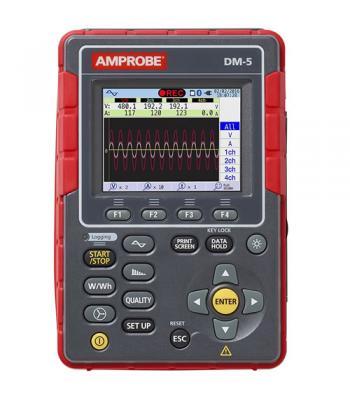 Amprobe DM-5 [4724171] High Performance Power Quality Tester, 3000 A