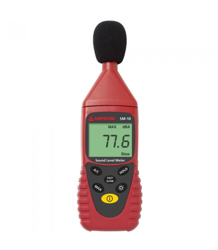Amprobe SM10 [SM-10] Sound Meter A and C Weightings for Checking Compliance w/ Safety Regulations