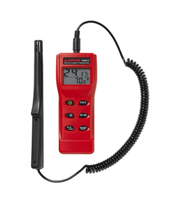 Amprobe THWD-5 [3311803] Relative Humidity and Temperature Meter with Wet Bulb and Dew Point