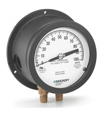Ashcroft 1125 [451125] Differential Pressure Gauge 4.5 in Dial Size