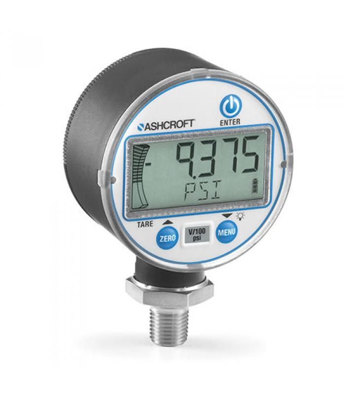 Ashcroft DG25 [DG2551N0NAM02L15#] Digital Pressure Gauge, 1/4 NPT male, 0.50% Accuracy, 0 to 15 Psi