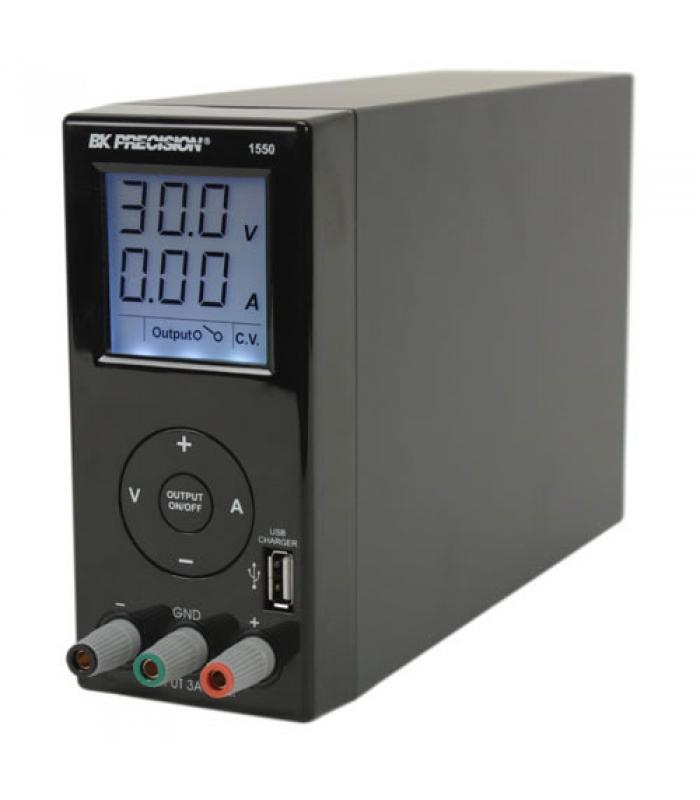 BK Precision 1550 [1550-220V] Switching DC Power Supply with USB Charger, 36V/3A, 220VAC Line Input