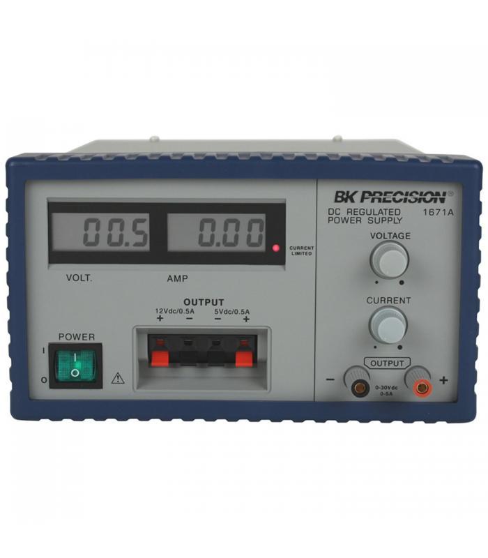 BK Precision 1671A [1671A-220V] Triple-Output Digital DC Power Supply, 30V/5A, 12V/0.5A, 5V/0.5A, 220VAC Line