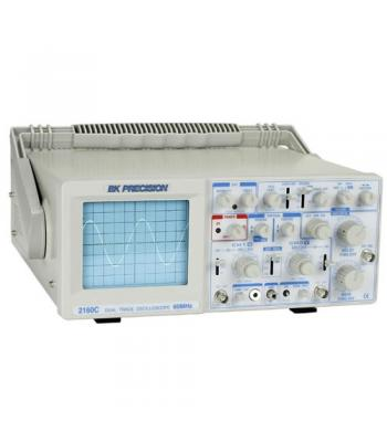 BK Precision 2160C 60 MHz Analog Oscilloscope w/ Built-in Component Tester & Probes