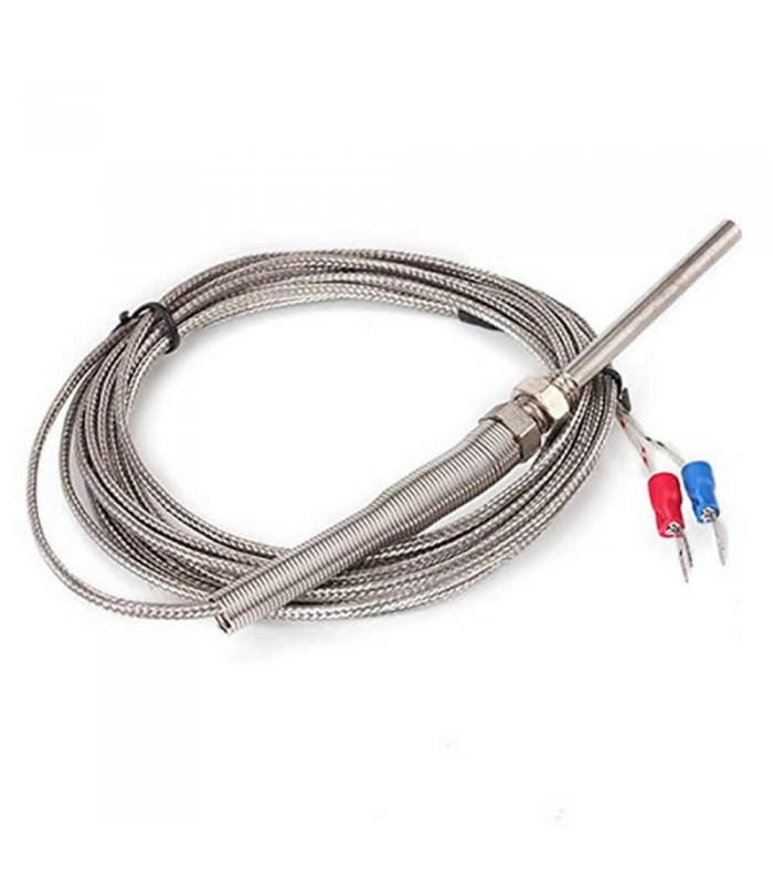 BQLZR N02855 Thermocouple K Type 100mm Probe Sensor with 3m Cable,  -100~1250 C