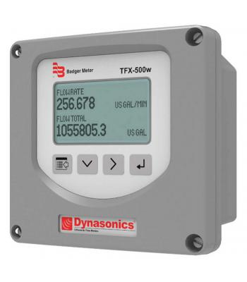 Badger Meter Dynasonics TFX-500w Ultrasonic Flow Meter (Fixed (0.5 to 2in pipes), 24 VDC Meter Mounted