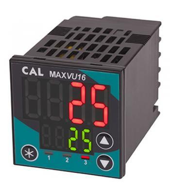 CAL Controls MAXVU16 [MV-160M-AA00-21U0] Temperature Controller, 1/16 DIN (48 x 48mm), SSR Output 1, SSR Output 2, 100 to 240 VAC
