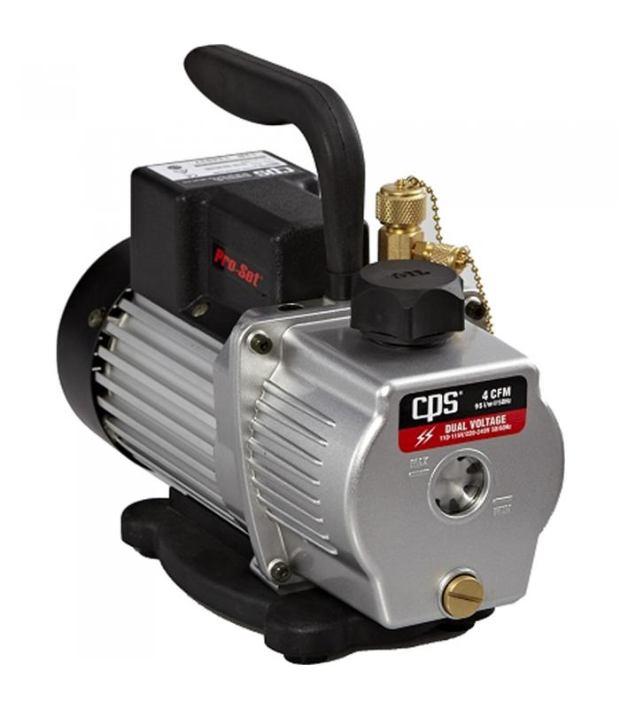 CPS Products Pro-Set [VP4S] 4 CFM 1 Stage, Dual Voltage (110-120V/220V) 50/60Hz Vacuum Pump