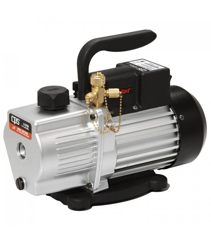 CPS Products Pro-Set [VP6D] 6 CFM 2 Stage, Dual Voltage Dual Voltage (110-120V/220V) 50/60Hz, Gas Ballast Valve Vacuum Pump