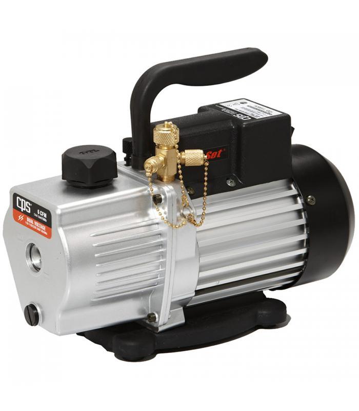 CPS Products Pro-Set [VP6DE] 6 CFM 2 Stage, Dual Voltage 220-240V 50Hz, with Gas Ballast Valve Vacuum Pump