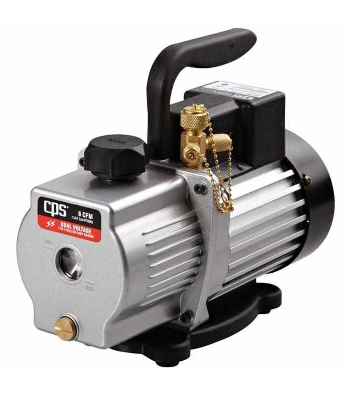 CPS Products Pro-Set [VP6S] 6 CFM 1 Stage, Dual Voltage 110-120V/220V 50/60Hz Vacuum Pump