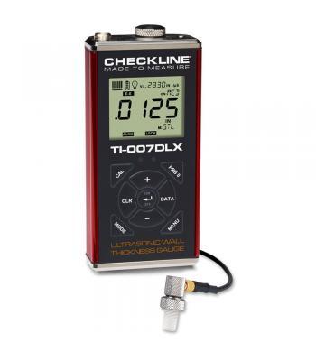 Checkline TI-007DLX [TI-007DLX] Precision Ultrasonic Wall Thickness Gauge with Data-Logging & USB Output