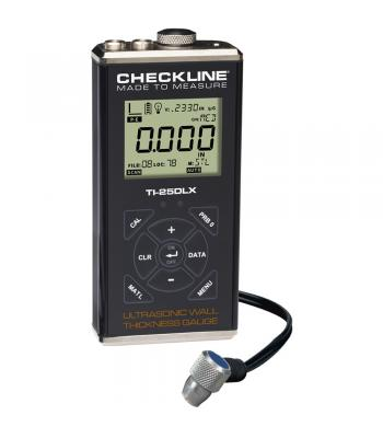 Checkline TI-25DLX [TI-25DLX] Ultrasonic Wall Thickness Gauge with Data Logging & USB Output, 0.025 - 6.00 inches (0.60 - 150.0 mm)