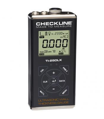 Checkline TI-25DLX [TI-25DLX-WOP] Ultrasonic Wall Thickness Gauge with Data Logging & USB Output (No Probe)