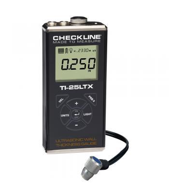 "Checkline TI-25LTX [TI-25LTX] Ultrasonic Thickness Gauge Kit (Steel Only), 0.040-6.000"" (1.00-150.0 mm)"