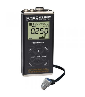 Checkline TI-25MXT [TI-25MXT] Thru-Paint Ultrasonic Wall Thickness Gauge, 0.040 to 8.00 inches (1.00 to 199.9mm)