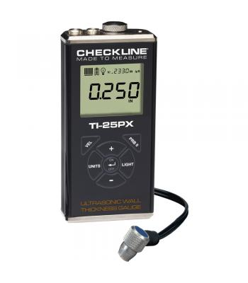 Checkline TI-25PX [TI-25PX] Economical Ultrasonic Wall Thickness Gauge Kit (Steel) 0.025 - 6.00 inches 0.60 - 150.0 mm
