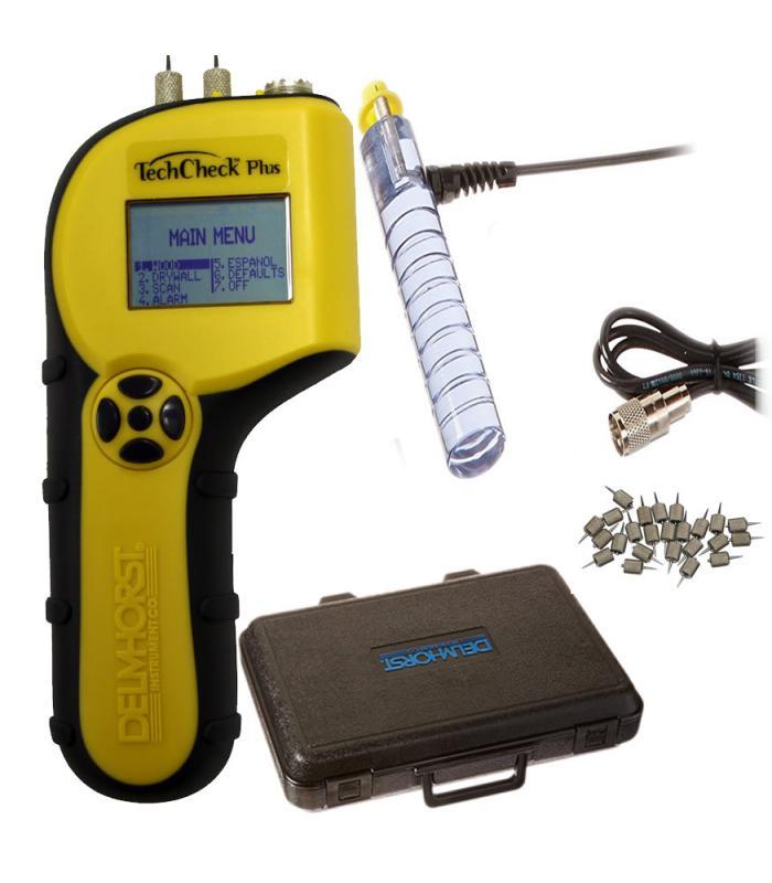 Delmhorst TechCheck Plus [TECHCHECK-PLUS/PKG] 2-in-1 Digital Moisture Meter Kit