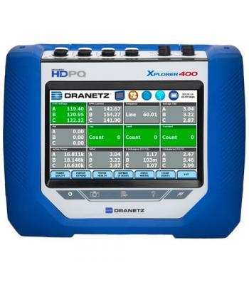 Dranetz HDPQ Xplorer 400 [HDPQ-X4APKG] Power Analyzer Starter Kit, NO CT's., 400 Hz