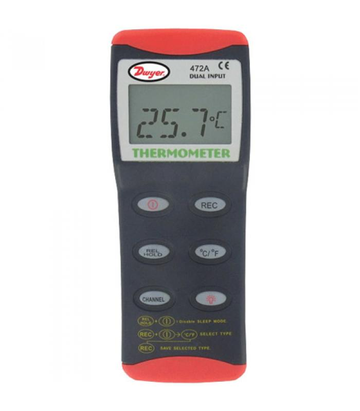 Dwyer 472A-1 [472A-1] Dual Input Thermocouple Thermometer