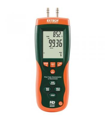 Extech HD350 [HD3350] Pitot Tube Anemometer + Differential Manometer