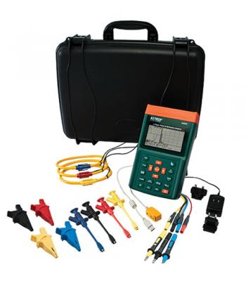 """Extech PQ3350 [PQ3350-1] 3-Phase Power & Harmonics Analyzer with 1200A 12"""" Flexible Current Clamp Probes"""