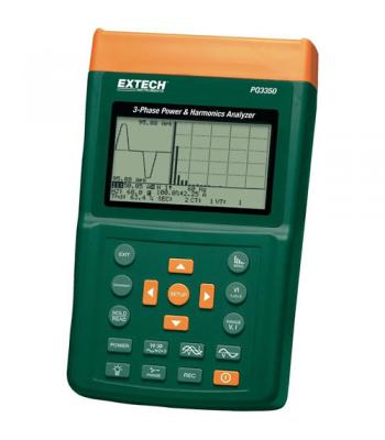Extech PQ3350 [PQ3350] 3-Phase Power & Harmonics Analyzer
