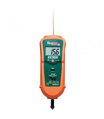 Extech RPM10 [RPM10] Photo / Contact Tachometer with built-in InfraRed Thermometer 4 to 600°F (-20 to 315°C)