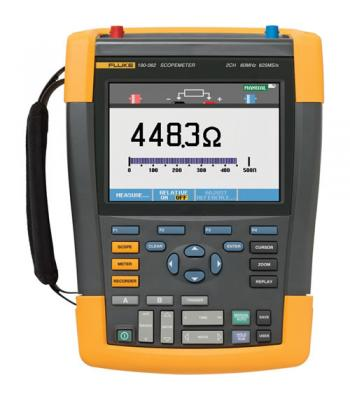 Fluke 190 Series II [FLUKE-190-062/AM] 60 MHz, 2 Ch, 625 MS/s, ScopeMeter Oscilloscope