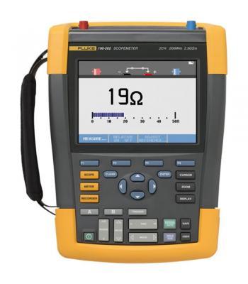 Fluke 190 Series II [FLUKE-190-202/AM] 200 MHz, 2 Ch, 2.5 MS/s, ScopeMeter Oscilloscope