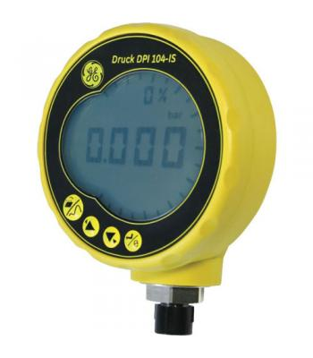 GE Druck DPI 104-IS [DPI104-IS-1-10000PSI-SG] Intrinsically Safe Digital Pressure Gauge, G1/4 Male, 0.05% FS Accuracy, 0 to 10,000 psi (0 to 700 bar), Sealed Gauge