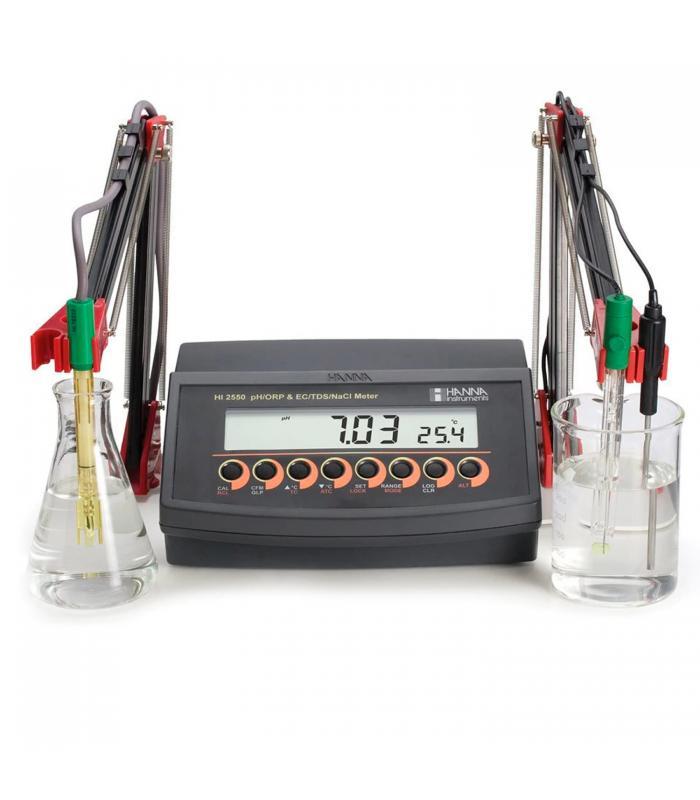 HANNA Instruments HI-2550 [HI2550] Multiparameter pH / mV/ ISE / EC/ TDS / Salinity Benchtop Meter