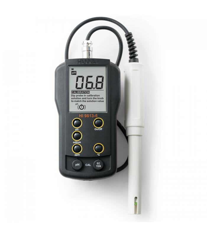 HANNA Instruments HI-9813-5 [HI9813-5] Multiparameter pH / EC / TDS / Temperature Meter