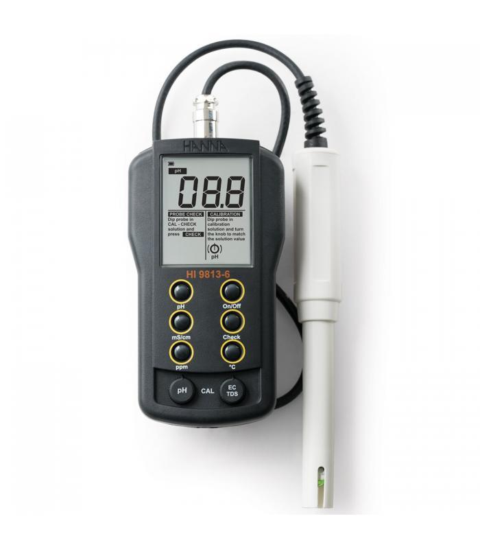 HANNA Instruments HI-9813-6 [HI9813-6] Portable pH / EC / TDS / Temperature Meter with CAL Check™