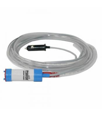 """Proactive Drum [PDRM-1000] 12V Pump with 13' Wire Lead, 10' 3/8"""" ID Clear PVC Tubing, Cigarette Plug & Battery Clamps"""