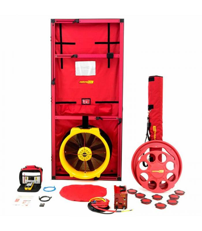 Retrotec 6000 [EU6100] High Pressure Blower Door System with Model 6000 Fan - Cloth Panel