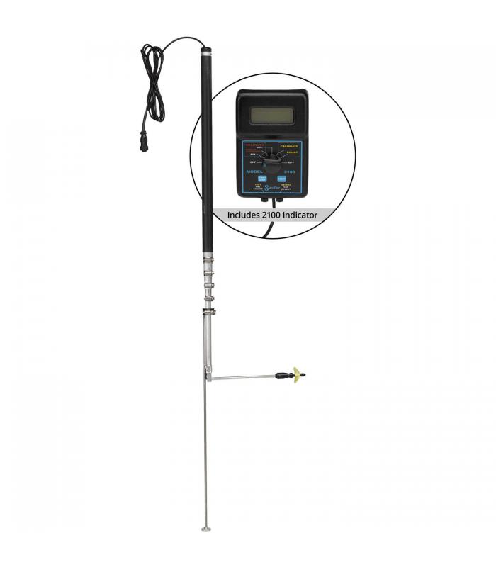 Swoffer Instruments 2100 Series [2100-STDX] Current Velocity Meter with 2.5 ft. - 9.5 ft. Telescoping Wand